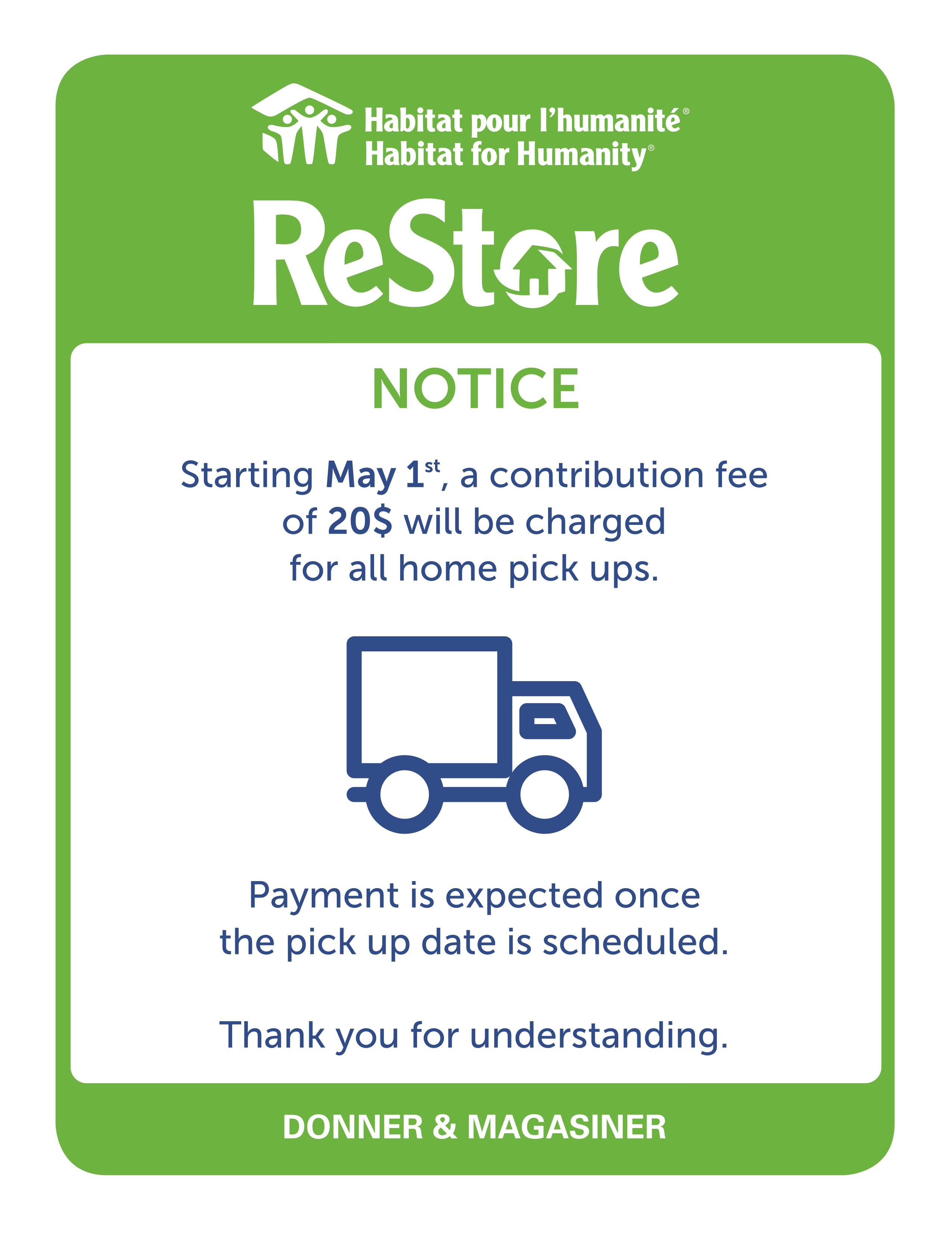 HHQ ReStore_Avertissement frais de collecte_EN