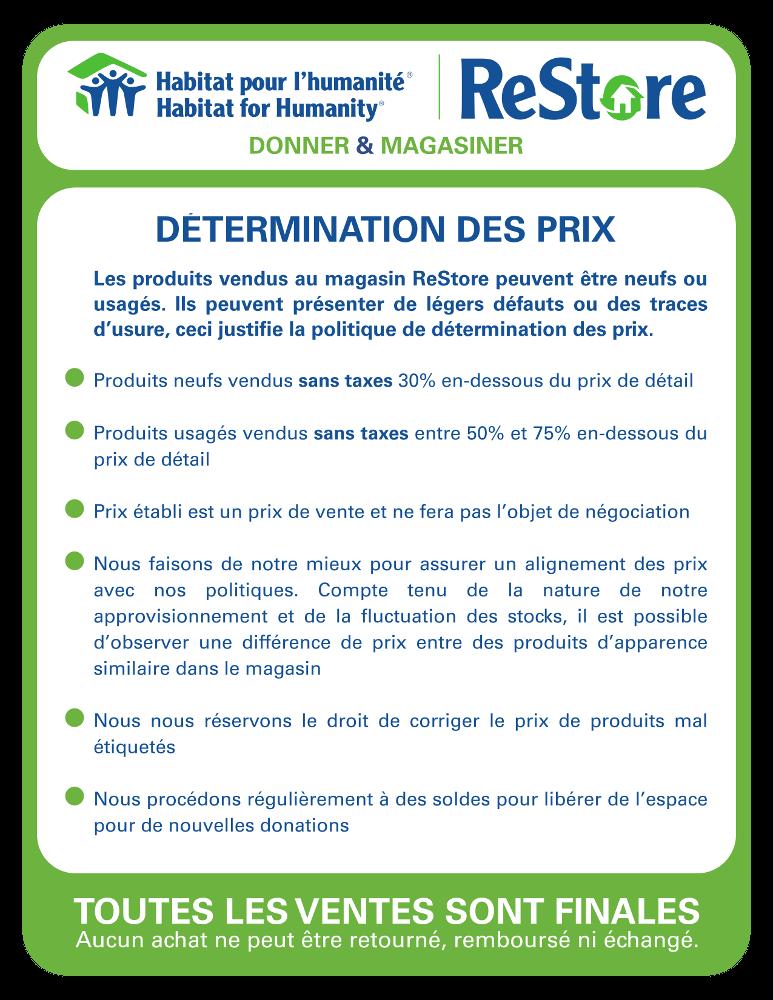 HHQ ReStore_Determination de prix+vente finale_siteweb
